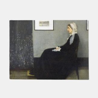 JAMES WHISTLER - Arrangement in grey and black Doormat