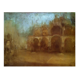 James Whistler- Nocturne: St Mark's, Venice Postcard