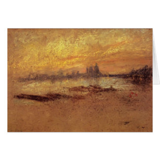 James Whistler: Red and Gold: Salute, Sunset Card