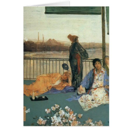 James Whistler-The Balcony Greeting Card