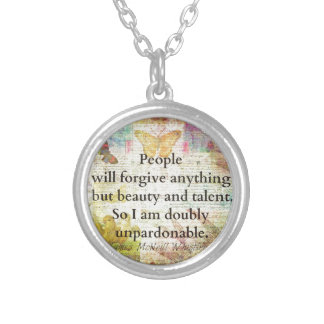 JamesMcNeillWhistlerWhimsical Confidence humourous Silver Plated Necklace