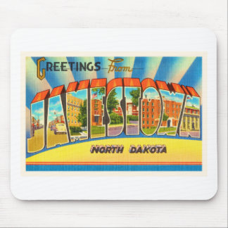 Jamestown North Dakota ND Vintage Travel Souvenir Mouse Pad