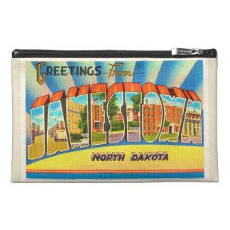Jamestown North Dakota ND Vintage Travel Souvenir Travel Accessory Bag
