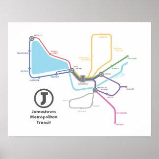Jamestown Subway Map Poster (20 x 16)