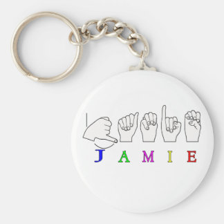 JAMIE NAME SIGN ASL FINGERSPELLED KEYCHAIN