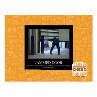 Jammed Door Postcard