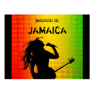 Jammin in Jamaica Reggae Rasta Postcard