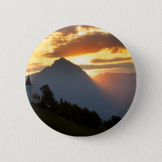 Jamnik church Sunrise 2 Inch Round Button