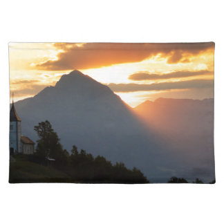 Jamnik church Sunrise Placemat