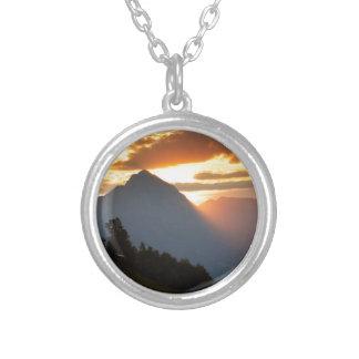 Jamnik church Sunrise Silver Plated Necklace