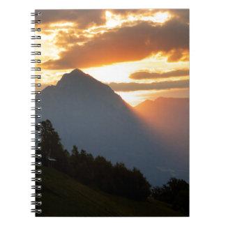 Jamnik church Sunrise Spiral Notebook