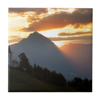 Jamnik church Sunrise Tile