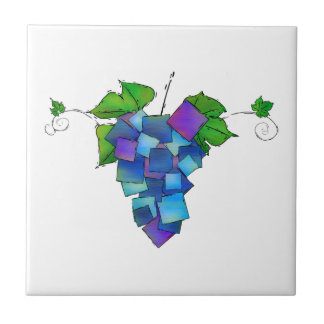 Jamurissa - square grapes ceramic tiles