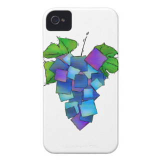 Jamurissa - square grapes iPhone 4 Case-Mate cases