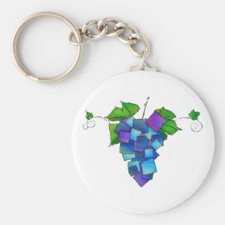 Jamurissa - square grapes keychain