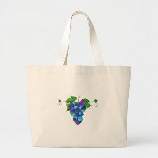 Jamurissa - square grapes large tote bag