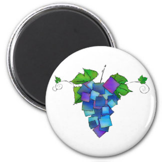 Jamurissa - square grapes magnet