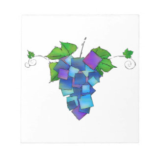 Jamurissa - square grapes notepad