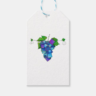 Jamurissa - square grapes pack of gift tags
