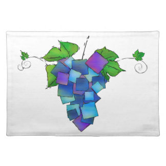 Jamurissa - square grapes placemat