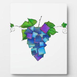 Jamurissa - square grapes plaque