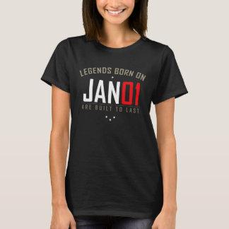 JAN 01 Birthday Date T-Shirt