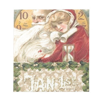 Jan 1st Old Father Time New Year Notepad
