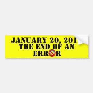 Jan. 20th, 2013 The End Of An Era Bumper Sticker