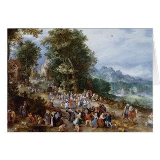 Jan Brueghel the Elder - Flemish Fair Card