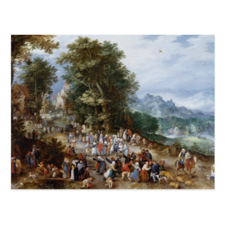 Jan Brueghel the Elder - Flemish Fair Postcard