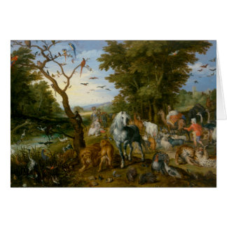 Jan Brueghel the Elder - The Entry of the Animals Card