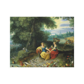 Jan Brueghel the Younger - An Allegory of Water Stretched Canvas Print