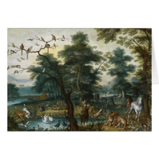 Jan Brueghel the Younger - Paradise Landscape Card