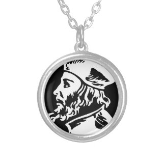 Jan Hus Silver Plated Necklace
