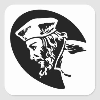 Jan Hus Square Sticker