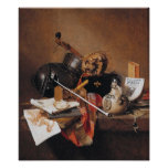 Jan Jansz-Vanitas Still Life-PRINT Poster
