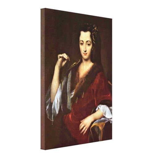Jan Kupecky - Portrait of a young Polish woman Stretched Canvas Print
