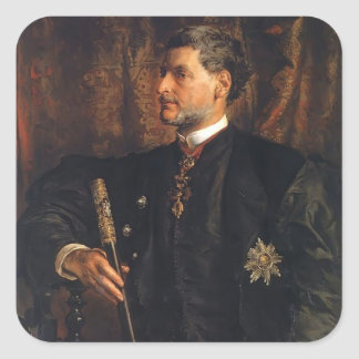 Jan Matejko- Portrait of Alfred Potocki Square Sticker