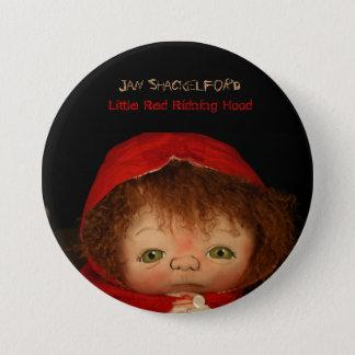 Jan Shackelford Button Pin Little Red Riding Hood