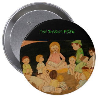 jan Shackelford  BUTTON Wendy and Lost Boys