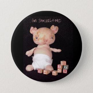 Jan Shackelford Piglet Button