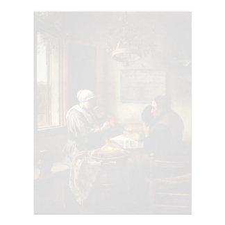 Jan Steen- Prayer before Meal Personalized Letterhead