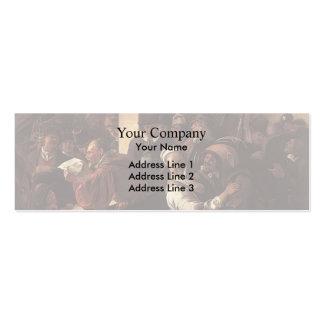 Jan Steen- Rhetoricians Business Card Template