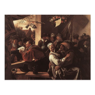 Jan Steen- Rhetoricians Postcard