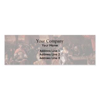 Jan Steen- Samson and Delilah Business Card Templates
