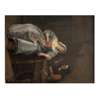 Jan Steen- Sick woman Postcard