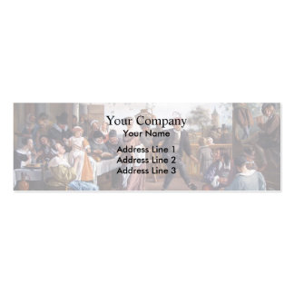 Jan Steen- The Dancing Couple Business Card Template