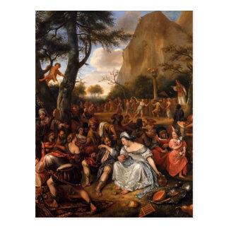 Jan Steen- Worship of Golden Calf Postcard
