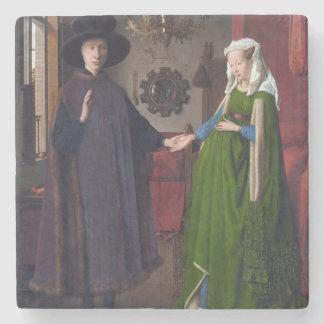 JAN VAN EYCK- Arnolfini Portrait 1434 Stone Coaster