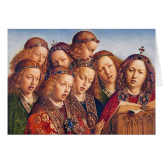 Jan van Eyck Singing angels Ghent altarpiece Card